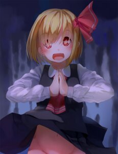 Rating: Questionable Score: 30 Tags: dress kanzen_bouon nopan rumia skirt_lift touhou User: Mr_GT