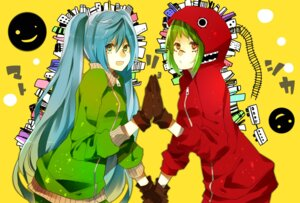 Rating: Safe Score: 11 Tags: gumi hatsune_miku matryoshka_(vocaloid) vocaloid yunomachi. User: Amperrior
