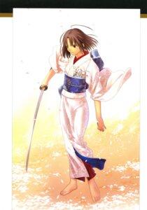 Rating: Safe Score: 11 Tags: kara_no_kyoukai kimono ryougi_shiki sword takeuchi_takashi type-moon User: fireattack