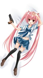 Rating: Safe Score: 20 Tags: hidan_no_aria kanzaki_h_aria pinkii_(kuma) seifuku thighhighs User: aihost