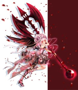Rating: Safe Score: 28 Tags: dress gothic_lolita heels hime_murasaki lolita_fashion remilia_scarlet see_through touhou weapon wings User: charunetra