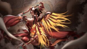 Rating: Safe Score: 27 Tags: liang_xing mercy_(overwatch) overwatch thighhighs weapon wings User: mash