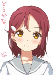 Rating: Safe Score: 20 Tags: kokekokko_coma love_live!_sunshine!! sakurauchi_riko seifuku User: saemonnokami