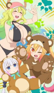 Rating: Questionable Score: 81 Tags: bikini breast_hold cap horns kanna_kamui kobayashi-san_chi_no_maid_dragon quetzalcoatl_(kobayashi-san_chi_no_maid_dragon) swimsuits tooru_(kobayashi-san_chi_no_maid_dragon) User: Natsu_Dragneel84