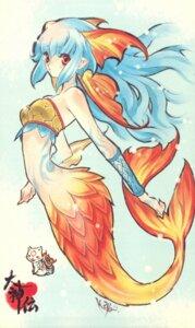 Rating: Safe Score: 25 Tags: amaterasu fujitsubo-machine kouji mermaid nanami ookami paper_texture User: kyoukai\shiki