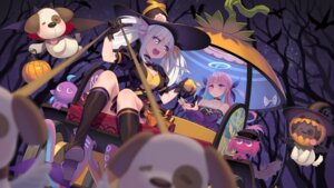 Rating: Safe Score: 2 Tags: cleavage frostcyco halloween heels hololive minato_aqua witch User: Mr_GT