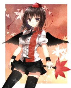 Rating: Safe Score: 19 Tags: maguro_(gulen-x) shameimaru_aya thighhighs touhou User: ddns001