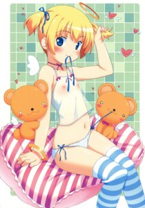 Rating: Questionable Score: 64 Tags: kuuchuu_yousai lingerie loli nipples pantsu see_through thighhighs User: petopeto