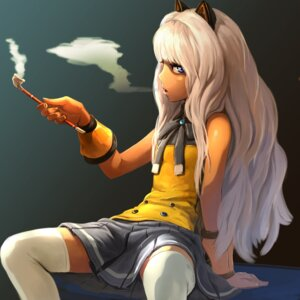 Rating: Safe Score: 30 Tags: animal_ears ladic seeu seifuku smoking thighhighs vocaloid User: itsu-chan