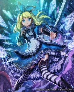 Rating: Safe Score: 80 Tags: alice alice_in_wonderland dress lee_hyeseung seikon_no_arcana sword thighhighs User: Mr_GT