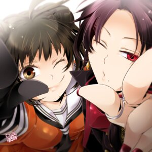 Rating: Safe Score: 15 Tags: crossover jouto kantai_collection kashuu_kiyomitsu naka_(kancolle) seifuku touken_ranbu User: joshuagraham