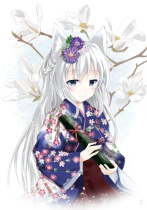 Rating: Safe Score: 40 Tags: animal_ears inagotei kitsune yukata User: tbchyu001