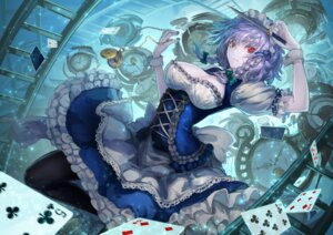 Rating: Safe Score: 70 Tags: cleavage izayoi_sakuya maid pantyhose ryuuzaki_itsu touhou User: blooregardo