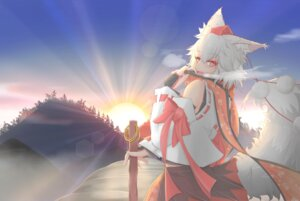 Rating: Safe Score: 15 Tags: animal_ears cube85 inubashiri_momiji tail touhou User: AsadaShino