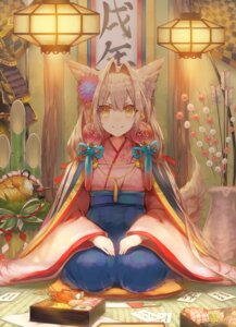 Rating: Safe Score: 35 Tags: animal_ears japanese_clothes saihate tail User: Mr_GT