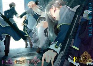 Rating: Safe Score: 10 Tags: gun luna_lia mahou_sensou seifuku sword thighhighs User: kiyoe