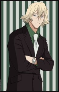 Rating: Safe Score: 5 Tags: bleach male signed urahara_kisuke vector_trace User: charunetra
