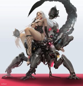 Rating: Questionable Score: 12 Tags: erect_nipples fishnets leotard mecha no_bra weber User: BattlequeenYume