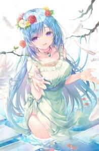 Rating: Questionable Score: 16 Tags: dress emori_miku emori_miku_project miwabe_sakura wet User: hiroimo2