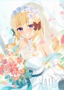 Rating: Questionable Score: 17 Tags: dress no_bra pointy_ears princess_connect princess_connect!_re:dive sasaki_saren see_through tagme wedding_dress User: Mr_GT