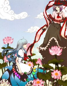 Rating: Safe Score: 2 Tags: hinanawi_tenshi kuroya_lily nagae_iku touhou User: Radioactive