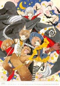 Rating: Safe Score: 4 Tags: animal_ears calendar card_captor_sakura clamp dress halloween kinomoto_sakura li_syaoran tail thighhighs witch yue User: Omgix