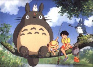 Rating: Safe Score: 5 Tags: kusakabe_mei kusakabe_satsuki tonari_no_totoro totoro User: Radioactive