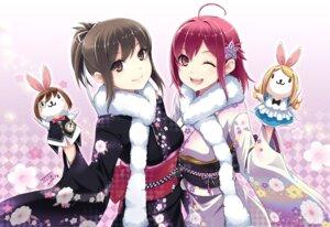 Rating: Safe Score: 45 Tags: alice alice_in_wonderland kimono kokuro_nozomi sekitsu_ayaka tel-o white_rabbit yamiyo_ni_odore User: animeprincess