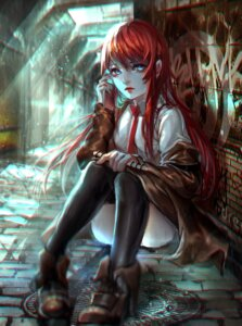 Rating: Questionable Score: 32 Tags: makise_kurisu sangrde steins;gate thighhighs User: charunetra