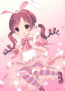 Rating: Safe Score: 17 Tags: animal_ears bunny_ears chitosezaka_suzu dress gochuumon_wa_usagi_desu_ka? legato maid natsu_megumi tagme thighhighs User: Radioactive