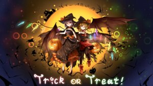 Rating: Safe Score: 30 Tags: dress flandre_scarlet halloween heels minust remilia_scarlet thighhighs touhou wings witch User: Mr_GT