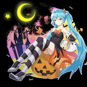 Rating: Safe Score: 36 Tags: dress halloween hatsune_miku heels thighhighs vocaloid w-t User: Mr_GT