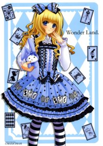Rating: Safe Score: 23 Tags: alice alice_in_wonderland dress lolita_fashion nishimata_aoi pantyhose User: fireattack