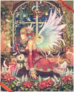 Rating: Safe Score: 45 Tags: anbe_yoshirou christmas thighhighs wings User: blooregardo