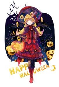 Rating: Safe Score: 27 Tags: bakemonogatari dress ekita_gen gothic_lolita halloween lolita_fashion oshino_shinobu umbrella wings User: Mr_GT