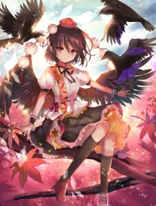 Rating: Safe Score: 36 Tags: kazu_(muchuukai) shameimaru_aya touhou wings User: Mr_GT