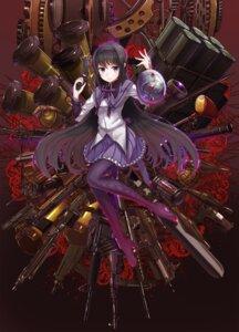 Rating: Safe Score: 34 Tags: akemi_homura gun heels puella_magi_madoka_magica thighhighs toshi_gahara weapon User: Mr_GT