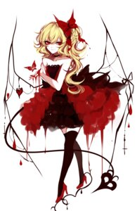 Rating: Safe Score: 21 Tags: dress flandre_scarlet heels sheya tail thighhighs touhou wings User: Mr_GT