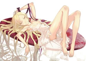 Rating: Questionable Score: 73 Tags: dress feet kizumonogatari loli no_bra nopan open_shirt oshino_shinobu pointy_ears redjuice summer_dress User: Radioactive
