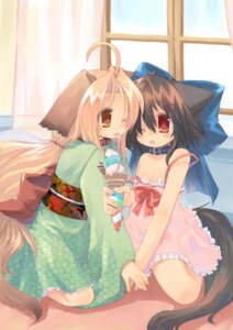 Rating: Safe Score: 11 Tags: animal_ears inumimi kimono toba_hiyoko User: yumichi-sama