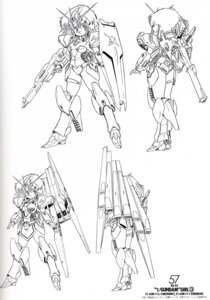 Rating: Safe Score: 3 Tags: akitaka_mika armor ass bleed_through gun mecha_musume monochrome User: withul