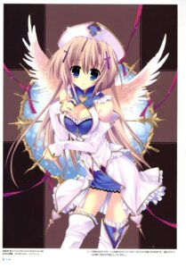 Rating: Safe Score: 46 Tags: cleavage mitha thighhighs wings User: YamatoBomber