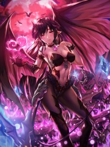 Rating: Questionable Score: 69 Tags: bikini_armor chyopeuteu cleavage devil horns pantyhose pointy_ears tail wings User: Spidey