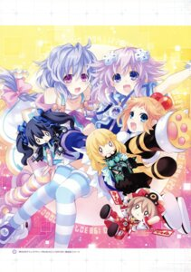 Rating: Questionable Score: 17 Tags: blanc choujigen_game_neptune kami_jigen_game_neptune_re;birth3 neptune noire peashy pururut thighhighs tsunako vert User: Radioactive