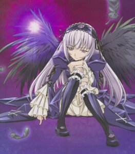 Rating: Safe Score: 8 Tags: lolita_fashion rozen_maiden suigintou wings User: Radioactive