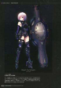 Rating: Safe Score: 22 Tags: armor fate/grand_order fukai_ryosuke garter heels leotard mash_kyrielight thighhighs User: kiyoe