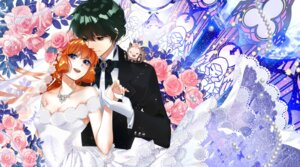 Rating: Safe Score: 6 Tags: asuka_daiki cleavage dress haneoka_meimi kaitou_saint_tail sptuel wedding_dress User: Mr_GT
