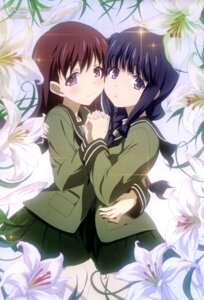 Rating: Safe Score: 79 Tags: kantai_collection kitakami_(kancolle) ooi_(kancolle) seifuku shimizu_sorato yuri User: drop