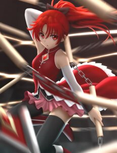 Rating: Safe Score: 27 Tags: puella_magi_madoka_magica sakura_kyouko siraha thighhighs weapon User: gibwar