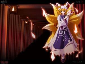 Rating: Safe Score: 10 Tags: kitsune side_b touhou wallpaper yakumo_ran User: Shamensyth